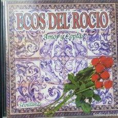 CDs de Música: CD - ECOS DEL ROCIO - AMOR Y COPLAS - SEVILLANAS - 1995. Lote 272677468