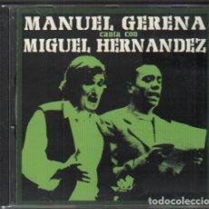 CDs de Musique: MANUEL GENERA CANTA CON MIGUEL HERNANDEZ / CD ALBUM DEL 2001 / MUY BUEN ESTADO RF-10196. Lote 273266413