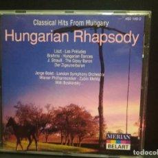 CDs de Música: HUNGARIAN RHAPSODY CLASSICAL HITS FROM HUNGARY CD GERMANY PEPETO. Lote 273518893