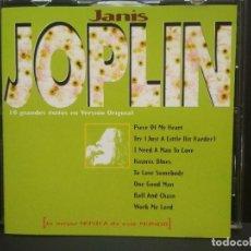 CDs de Música: JANIS JOPLIN - LA MEJOR MUSICA DE ESTE MUNDO (10 GRANDES EXITOS) (CD ALBUM 1989) PEPETO. Lote 273522418