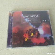 CDs de Música: DOBLE CD DEEP PURPLE LIVE IN PARIS 1975 LA DERNIERE SEANCE. NO USADOS. Lote 273739778