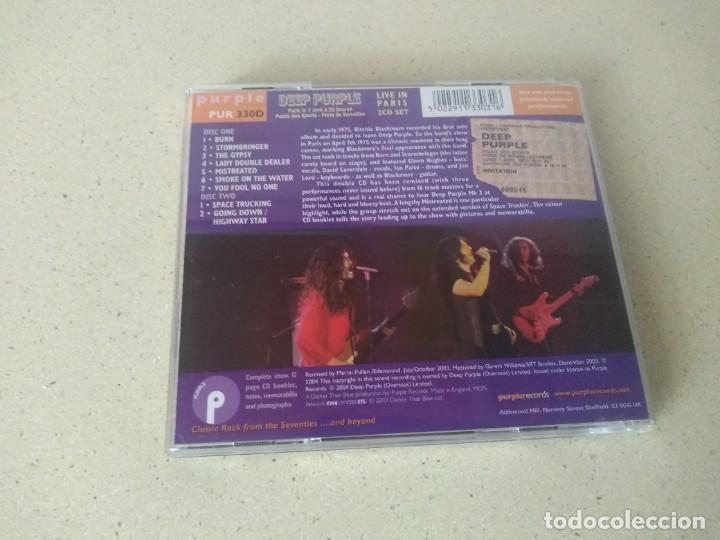 CDs de Música: Doble cd Deep Purple Live in Paris 1975 la derniere seance. NO USADOS - Foto 2 - 273739778
