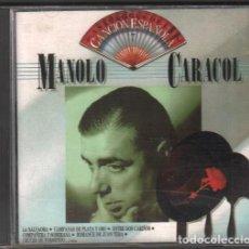 CDs de Música: MANOLO CARACOL - ANTOLOGIA DE LA CANCION ESPAÑOLA / CD ALBUM DE 1990 / MUY BUEN ESTADO RF-10258. Lote 274028278