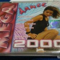 CDs de Música: CD ( MEGA DANCE 2000 ) 1999 GM MUSIC - ITALO DISCO - MUY POCO USO - DIFICIL. Lote 274184383