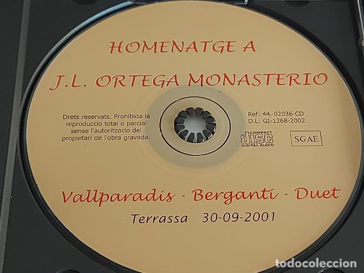 CDs de Música: BERGANTÍ DUET / HOMENATGE AL MESTRE J.L. ORTEGA MONASTERIO / VALLPARADÍS / 2002 / 16 TEMAS / LUJO. - Foto 2 - 274914428