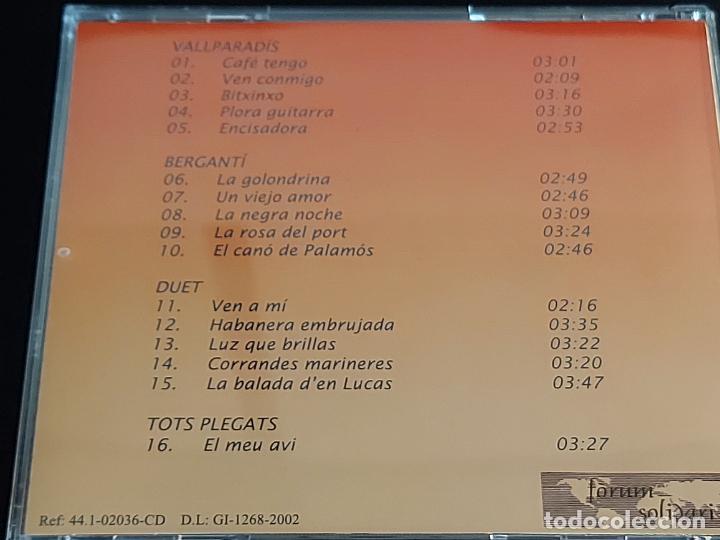 CDs de Música: BERGANTÍ DUET / HOMENATGE AL MESTRE J.L. ORTEGA MONASTERIO / VALLPARADÍS / 2002 / 16 TEMAS / LUJO. - Foto 3 - 274914428