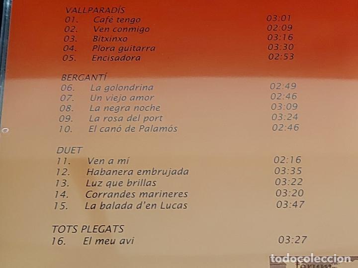 CDs de Música: BERGANTÍ DUET / HOMENATGE AL MESTRE J.L. ORTEGA MONASTERIO / VALLPARADÍS / 2002 / 16 TEMAS / LUJO. - Foto 4 - 274914428