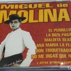 CDs de Música: CD ( MIGUEL DE MOLINA - EL PERRILLO, LA BIEN PAGÁ, MALDITA SEAS ) 1999 EFEN - POCO USO. Lote 274936493