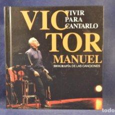 CDs de Musique: VÍCTOR MANUEL - VIVIR PARA CANTARLO - 2 CD + DVD. Lote 275057058