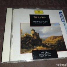CD de Música: BRAHMS - PIANO CONCERTÓ NO. 2 BALLAD ES OP. 10. Lote 275614738