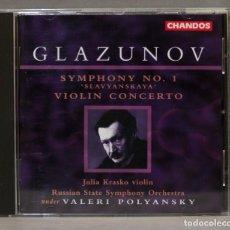 CDs de Música: CD. SYMPHONY NO. 1. GLAZUNOV. POLYANSKY. Lote 275775113