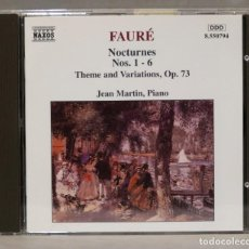 CDs de Música: CD. FAURE. NOCTURNES 1 -6. THEME AND VARIATIONS OP 73. MARTIN. Lote 275778118
