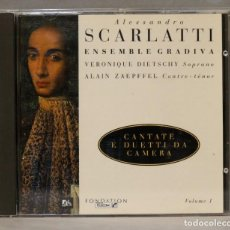 CDs de Música: CD. SCARLATTI. ENSEMBLE GRADIVA. DIETSCHY. ZAEPFFEL. Lote 275778568