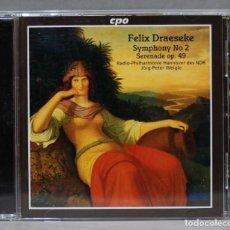 CD de Música: CD. DRAESEKE. SYMPHONY 2. SERENADE OP 49. Lote 275785188
