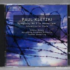 CDs de Música: CD. KLETZKI. SYMPHONY 3 IN MEMORIAM. BEZALY. Lote 275785428