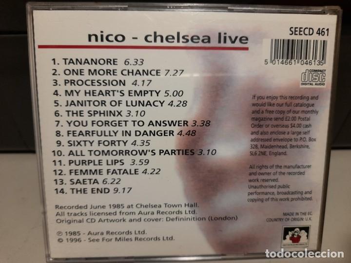 CDs de Música: CD NICO ( THE VELVET UNDERGROUND, TEMAS DE NICO, LOU REED Y THE DOORS ) : CHELSEA LIVE - Foto 2 - 275788213