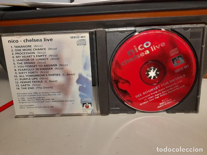 CDs de Música: CD NICO ( THE VELVET UNDERGROUND, TEMAS DE NICO, LOU REED Y THE DOORS ) : CHELSEA LIVE - Foto 3 - 275788213
