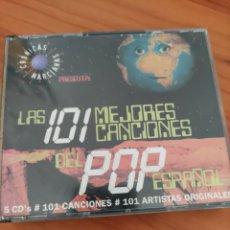 CDs de Música: 5 CDS 101 MEJORES CANCIONES POP ESPAÑOL. ALASKA, LOQUILLO, MECANO, EXTREMODURO, LA GRANJA,. Lote 276055983