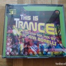 CDs de Música: CD THIS IS TRANCE A NON - STOP. DJ JEAN BORELLI. VER FOTOS Y LEER. Lote 276057153