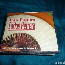 CD de Música: LAS COPLAS DE CARLOS HERRERA. 100 COPLAS PARA LA HISTORIA. 4 CD´S.. Lote 276186393