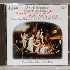 CDs de Música: CD. SCHUMANN. OP. 74. OP. 148. OP. 34. OP. 78. SCHETLER. DEUTSCH. Lote 276214388