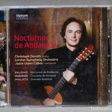 CDs de Música: CD. NOCTURNOS DE ANDALUCIA. DENOTH. Lote 276215473