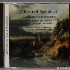 CDs de Música: CD. SYMPHONIE Nº 1 EN RÉ MAJEUR - CONCERTO EN SOL MINEUR POUR PIANO ET ORCHESTRE. SGAMBATI. Lote 276215888