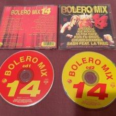CDs de Música: BOLERO MIX 14 - 2CD - BLANCO Y NEGRO MUSIC. Lote 276223688