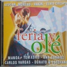 CDs de Música: FERIA Y OLÉ - AZUCAR MORENO, CARLOS VARGAS, ELVIS CRESPO Y MÁS ARTISTAS. Lote 276228463