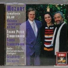CD de Música: CD. SYMPHONY NO. 40. SINFONIA CONCERTANTE KV 364. MOZART. ZIMMERMANN. Lote 276283248