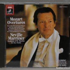 CDs de Música: CD. MOZART. OUVERTURES. MARRINER. Lote 276284998