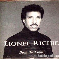 CDs de Música: LIONEL-RICHIE-BACK-TO-FRONT-CD-IMPORTADO-. Lote 276342123