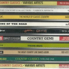 CDs de Música: LOTE 10 CDS RECOPILATORIOS DE MÚSICA COUNTRY. Lote 276359088