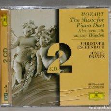 CDs de Música: 2 CD. THE MUSIC FOR PIANO DUET. KLAVIERMUSIK ZU VIER HÄNDEN. ESCHENBACH. FRANTZ. Lote 276409443
