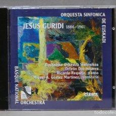 CD de Música: CD. ORQUESTA SINFONICA DE EUSKADI. JESUS GURIDI. 1886-1961. Lote 276410118