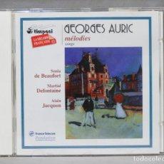 CDs de Música: CD. GEOERGES AURIC. MELODIES. Lote 276411283