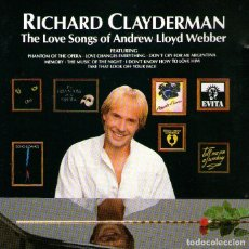 CDs de Música: RICHARD CLAYDERMAN - THE LOVE SONGS OF ANDREW LLOYD WEBBER - CD 12 TRACKS - DECCA / DELPHINE 1989.. Lote 276472973