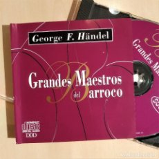 CDs de Música: HÄNDEL, GRANDES MAESTROS DEL BARROCO, ORQUESTA DE CÁMARA DE BRATISLAVA, 1994 (NM_NM). Lote 276622538