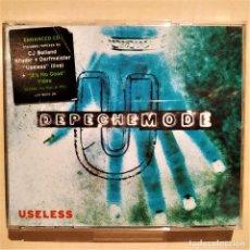 CDs de Música: DEPECHE MODE, USELESS, LCDBONG28, ESPAÑA 1997, ENHANCED CD CON VIDEO, COMO NUEVO (NM_NM). Lote 276667008