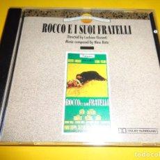 CDs de Música: ROCCO E I SUOI FRATELLI / ROCCO Y SUS HERMANOS / NINO ROTA / ORIGINAL SOUNDTRACK / BANDA SONORA / CD. Lote 276691483