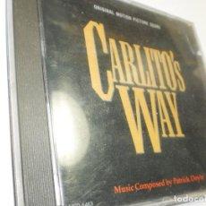 CDs de Música: CD CARLITO'S WAY. VARESE SARABANDE 1993 GERMANY 11 TEMAS (BUEN ESTADO). Lote 276706063