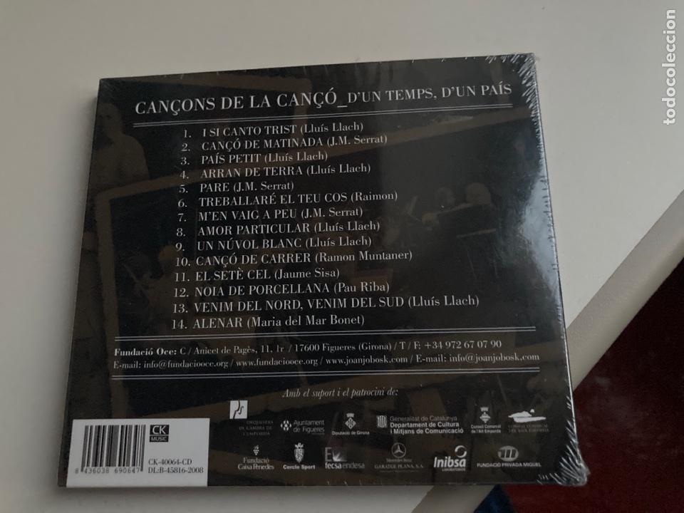 CDs de Música: CD CANÇONS DE LA CANÇO - DUN TEMPS, DUN PAÍS - ORQUESTRA DE CAMBRA DE LEMPORDÀ - 2008 - NUEVO - - Foto 2 - 276963018