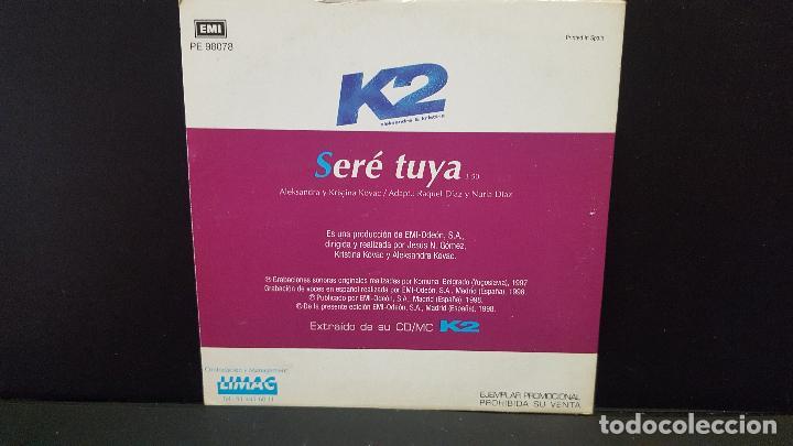 CDs de Música: K2 (ALEKSANDRA & KRISTINA) / SERE TUYA (CD SINGLE CARTON PROMO 1998) PEPETO - Foto 2 - 277033828