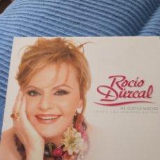 """CDs de Música: DOBLE CD + DVD ROCIO DÚRCAL """" ME GUSTAS MUCHO TODOS LOS GRANDES EXITOS """". Lote 277038308"""