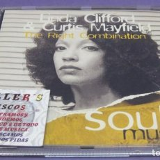 CD de Música: LINDA CLIFFORD & CURTIS MAYFIELD - THE RIGHT COMBINATION / SOUL MUSIC - CD. Lote 277069378