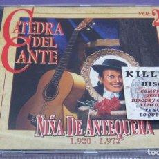 CDs de Música: NIÑA DE ANTEQUERA - LA CÁTEDRA DEL CANTE VOL 26 - CD. Lote 277077573