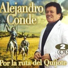 CDs de Música: ALEJANDRO CONDE - POR LA RUTA DEL QUIJOTE (COMPACT DOBLE). Lote 277095933
