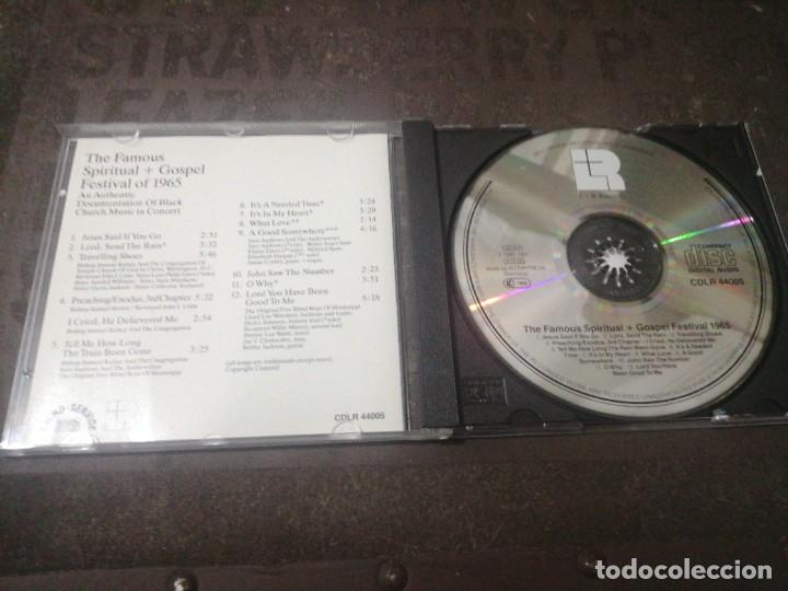 CDs de Música: THE FAMOUS SPIRITUAL + GOSPEL FESTIVAL 1965 - Foto 2 - 277100798