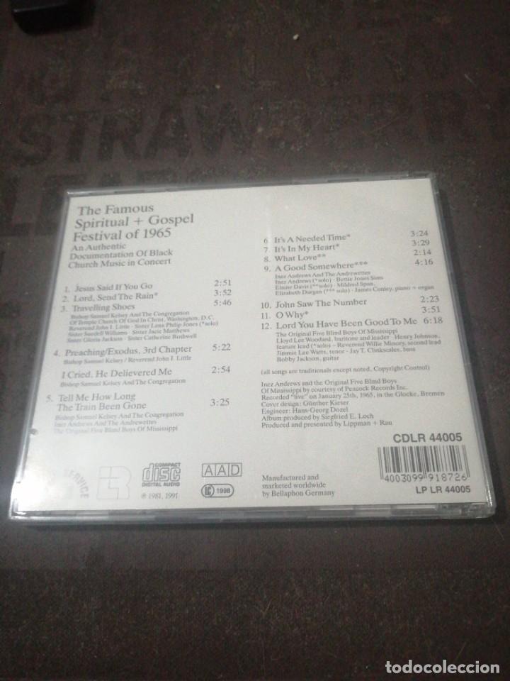 CDs de Música: THE FAMOUS SPIRITUAL + GOSPEL FESTIVAL 1965 - Foto 3 - 277100798