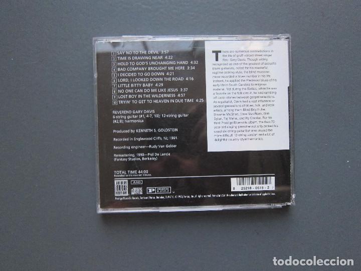 CDs de Música: SAY NO TO THE DEVIL - REVEREND GARY DAVIS - Foto 2 - 277101628